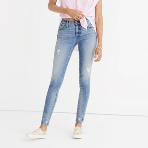 Madewell Rigid Skinny Destructive Hem Jean